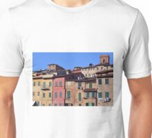 Italian colorful buildings with shutters in Siena Unisex T-Shirt