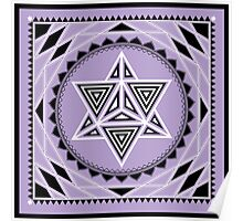 SACRED GEOMETRY - MERKABA - METATRONS CUBE - FLOWER OF LIFE - SPIRITUALITY Poster