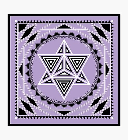 SACRED GEOMETRY - MERKABA - METATRONS CUBE - FLOWER OF LIFE - SPIRITUALITY Photographic Print