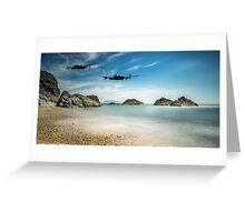 Lancasters Over Llanddwyn Greeting Card
