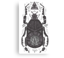 All Seeing Eye - Beetle One - grey Canvas Print