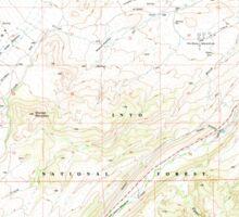 USGS TOPO Map California CA Tungsten Hills 295544 1990 24000 geo Sticker
