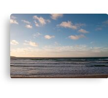 Gwithian Beach at Sunset Canvas Print