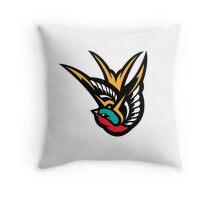 Swallow Tattoo Flash Logo Throw Pillow