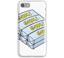 cartoon chewing gum iPhone Case/Skin