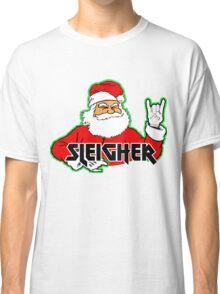 SLEIGHER METAL SANTA T-Shirt Hail Santa Funny Christmas Classic T-Shirt