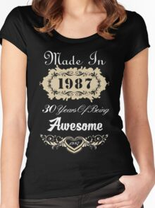 Made in 1987 30 years of being awesome Women's Fitted Scoop T-Shirt