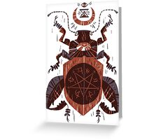 Spilling Time - Beetle Two - Red Greeting Card