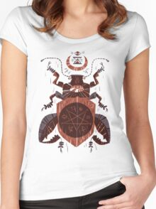 Spilling Time - Beetle Two - Red Women's Fitted Scoop T-Shirt
