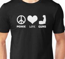 Peace Love Guns Unisex T-Shirt