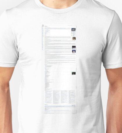 Simple Plan Wikipedia Page Unisex T-Shirt