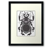 Eye of the Gods - Beetle Three - grey Framed Print