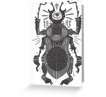 Eye of the Gods - Beetle Three - grey Greeting Card