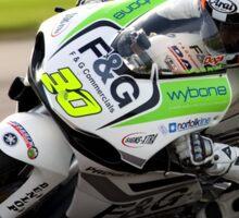 Mark Davies on the F&G/ Wybone sponsored Yamaha TZ250 Sticker