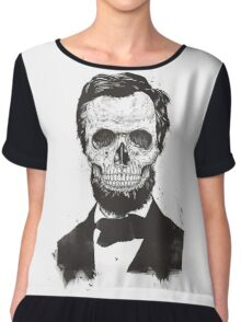 Dead Lincoln (b&w) Chiffon Top