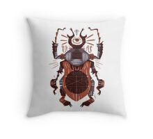 Eye of the Gods - Beetle Three - red Throw Pillow