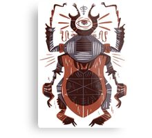 Eye of the Gods - Beetle Three - red Metal Print