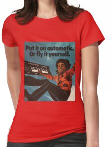 """""""Or fly it yourself."""" Vintage Synth Ad Womens Fitted T-Shirt"""