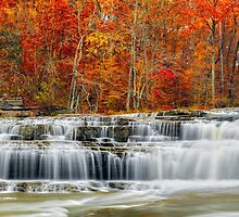 Autumn at Upper Cataract Falls by Kenneth Keifer