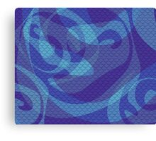 Purple Mermaid Scales Canvas Print