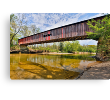 Covered Bridge at Cox Ford Canvas Print