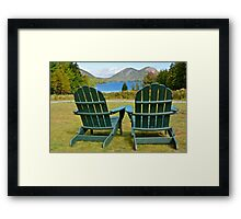 On The Lawn, Jordan Pond Framed Print