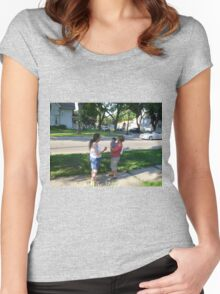 shoeing off the grand child Women's Fitted Scoop T-Shirt