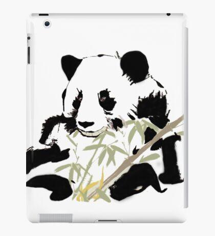Giant Panda (Ailuropoda melanoleuca) (Chinese brush art) iPad Case/Skin