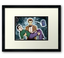 doctor who and mr. bean Framed Print
