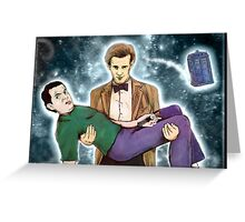 doctor who and mr. bean Greeting Card