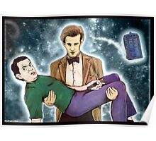 doctor who and mr. bean Poster