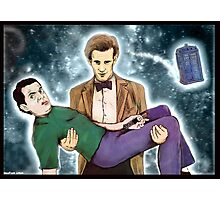 doctor who and mr. bean Photographic Print