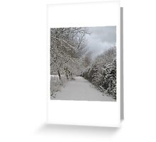 Snow Path Greeting Card