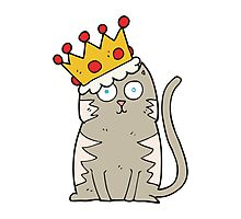 cartoon cat with crown Photographic Print