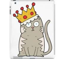 cartoon cat with crown iPad Case/Skin