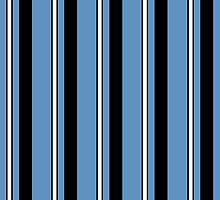 Blue Black and White Stripes by Greenbaby
