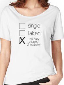 single taken snowbarry B Women's Relaxed Fit T-Shirt