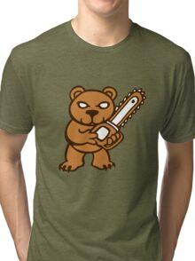 chainsaw teddy bear Tri-blend T-Shirt