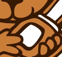 chainsaw teddy bear Sticker