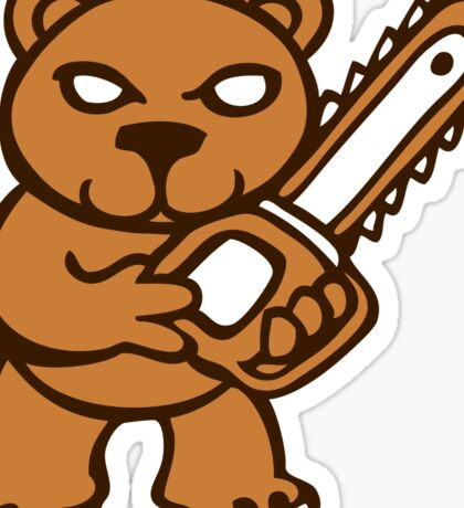 chainsaw teddy bear Sticker