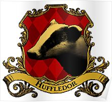 Huffledor House Crest Poster