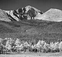 Longs Peak a Colorado Playground In Black and White by Bo Insogna