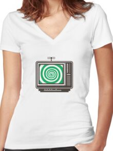 Television Women's Fitted V-Neck T-Shirt