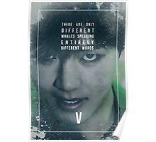 BTS Wings - V - Stigma Poster