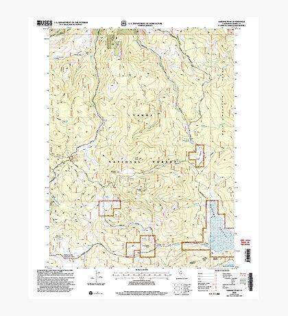 USGS TOPO Map California CA Sardine Peak 295098 2000 24000 geo Photographic Print