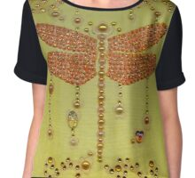 Dragonfly in Yellow Chiffon Top