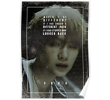BTS Wings - Suga - First Love Poster