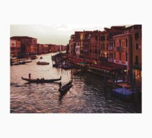 Impressions Of Venice - Warm Dusk and Gondolas on the Grand Canal  One Piece - Short Sleeve