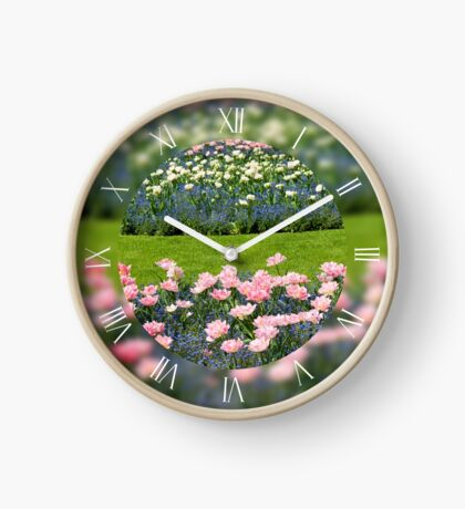 Pink Foxtrot tulips grow Clock
