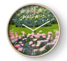 Pink Foxtrot tulips grow Clock